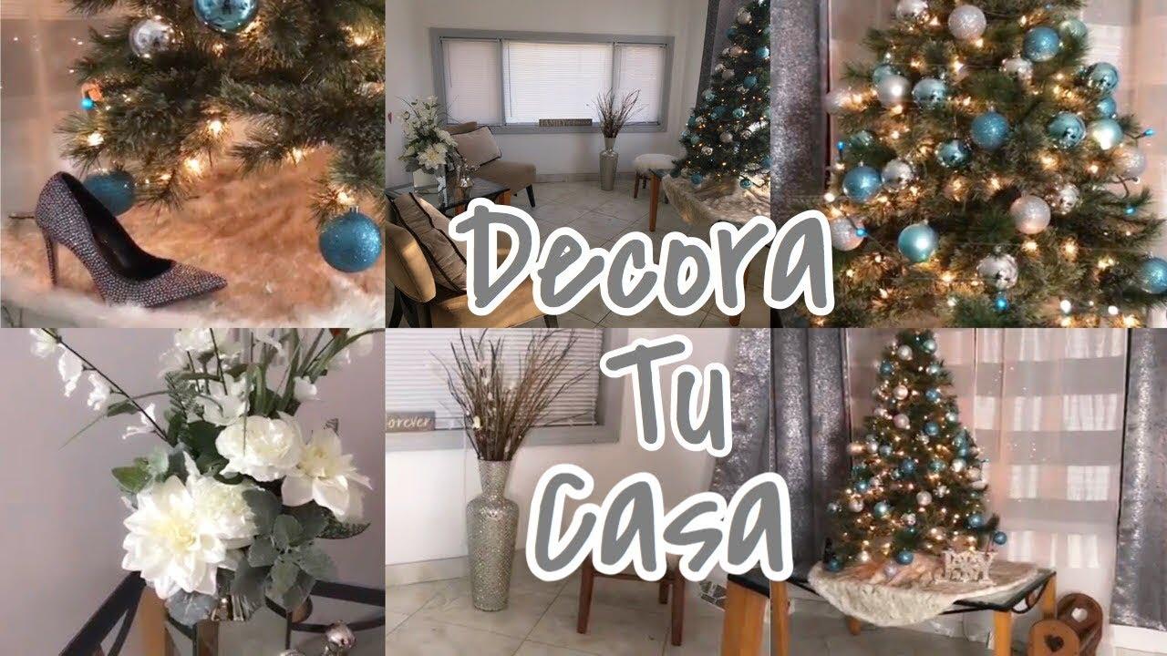 Navidad como decorar la entrada de tu casa navidad poco - Decorar tu casa con poco dinero ...