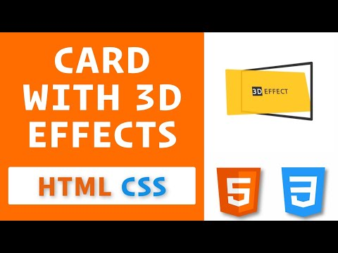 Card with 3D effects using HTML & CSS / 3D effects using CSS Transforms and Transitions