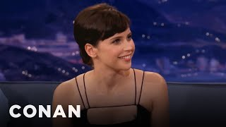 Felicity Jones Teaches Conan Brummie Slang