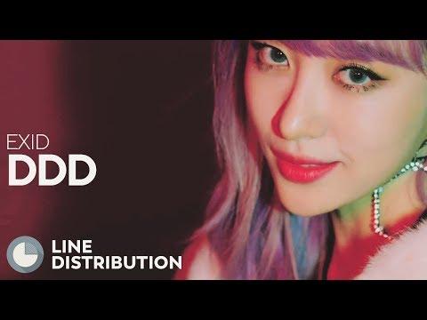 EXID - DDD (Line Distribution)