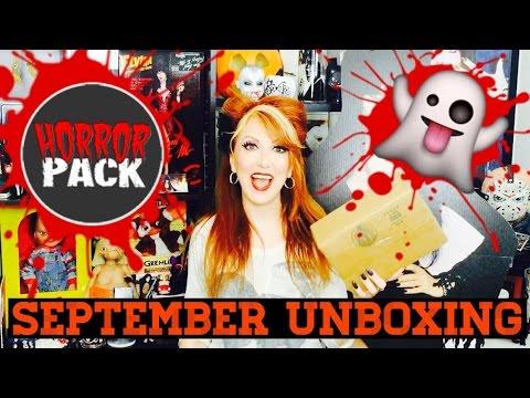 Horror Pack September 2016 Unboxing Horror Movies BluRay DVD
