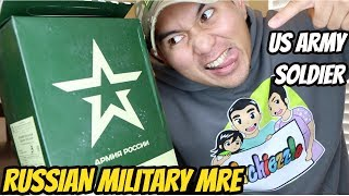 US ARMY SOLDIER Testing Russian Military MRE (Meal Ready to Eat) Military Food