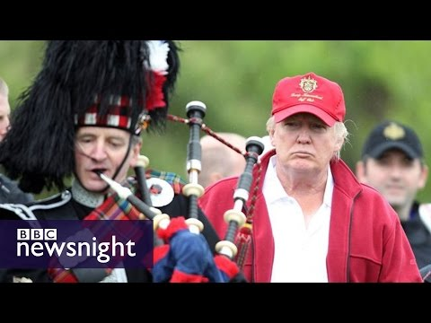 Donald Trump: In search of his Scottish roots - BBC Newsnight