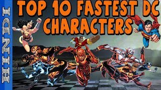 OFFICIAL TOP 10 FASTEST DC CHARACTERS || EXPLAINED with PROPER LOGIC in HINDI