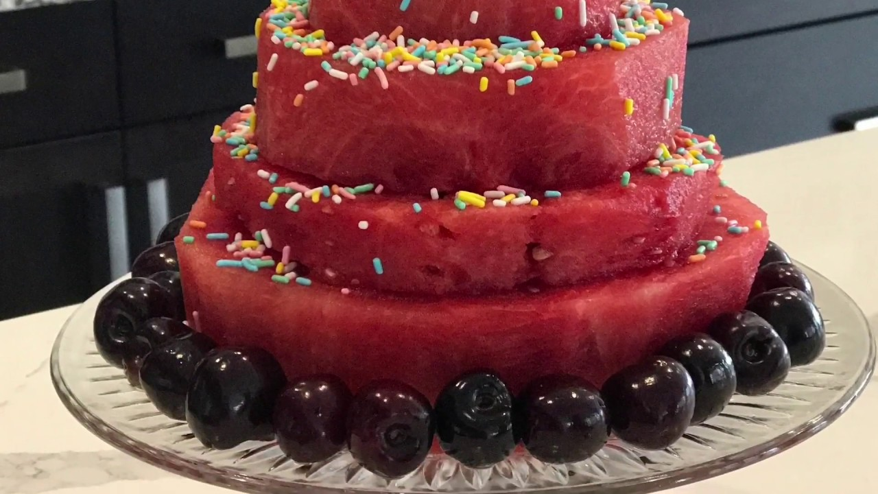 Raw Vegan fruit cake Watermelon carving YouTube