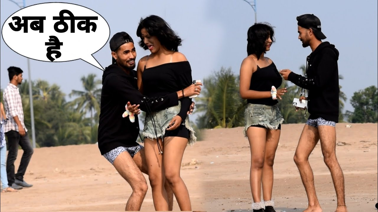 चड्ढी (Chadhdhi )  Prank On Hot Girl   Bharti Prank   Raju Bharti  