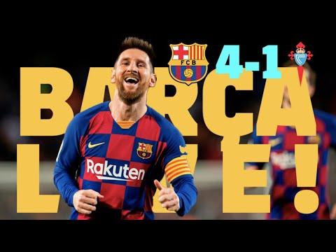 ⚽ Barça  4 – 1 Celta | BARÇA LIVE: Warm Up & Match Center