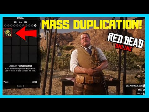 *NEW* MASS PELT DUPLICATION MONEY GLITCH IN RED DEAD ONLINE! (RED DEAD REDEMPTION 2)