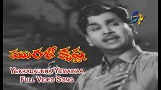 Yekkadaunna Yemainaa Full Video Song | Murali Krishna | ANR | Jamuna | SV Ranga Rao | ETV Cinema