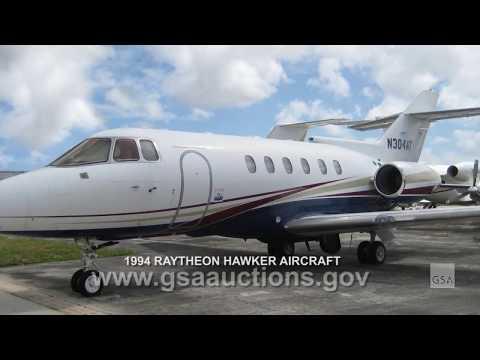 GSA Auctions announces online sale: 1994 Raytheon Hawker Aircraft