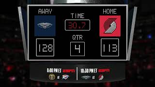 Pelicans @ Trail Blazers LIVE Scoreboard - Join the conversation & catch all the action on ESPN!