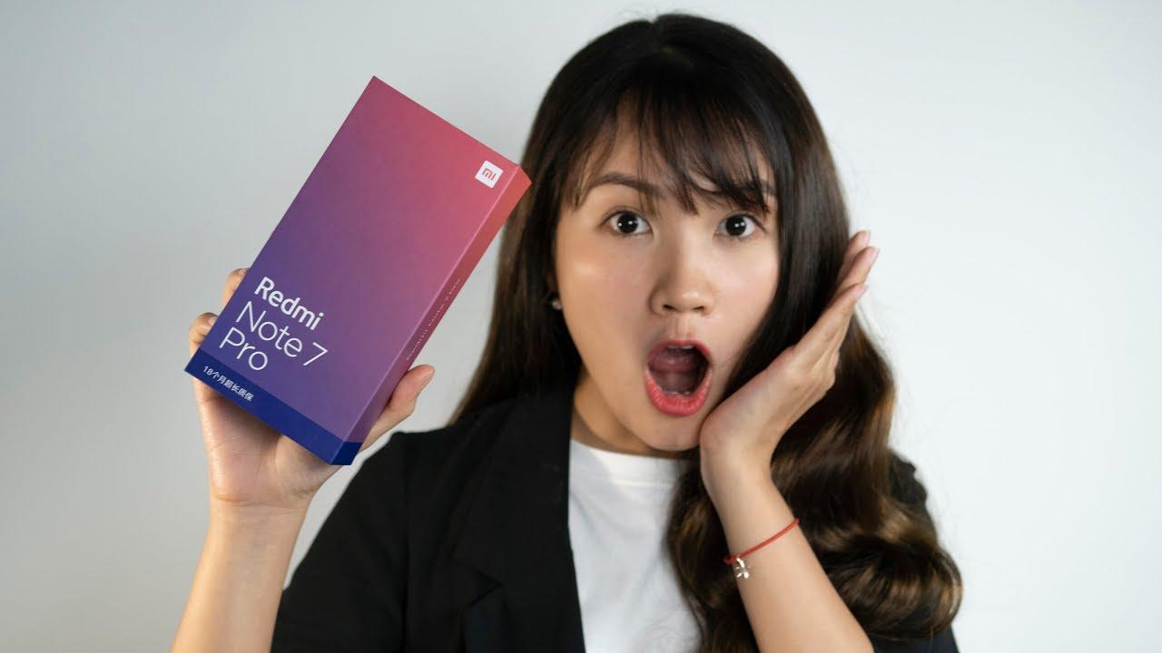 Mở hộp Xiaomi Redmi Note 7 Pro xách tay