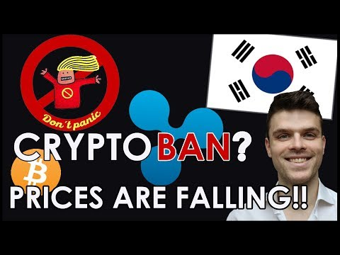 South Korea BANS Cryptocurrency Trading ?? | Coin Prices Drop !!