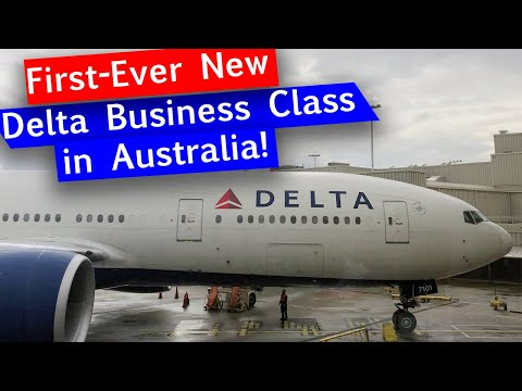 Delta Air Lines Refurbished 777 From SYD To LAX - NEW Delta One Suites
