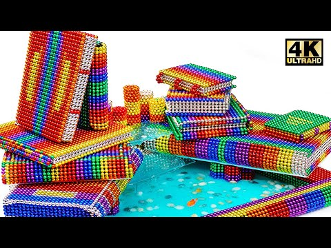 DIY - How To Make Book Fountain From Magnetic Balls (Satisfying)   Magnet World Series