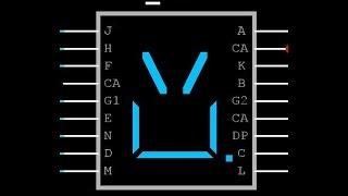 NI Multisim| A-398G 15 Segment Display Pinout