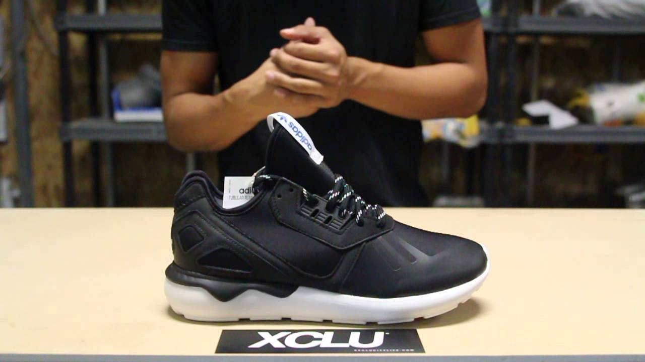 Delicate Adidas Tubular Moc Runner Men Round Toe Synthetic Black