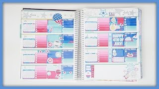 Plan With Me // 4th Of July! (Erin Condren Horizontal)