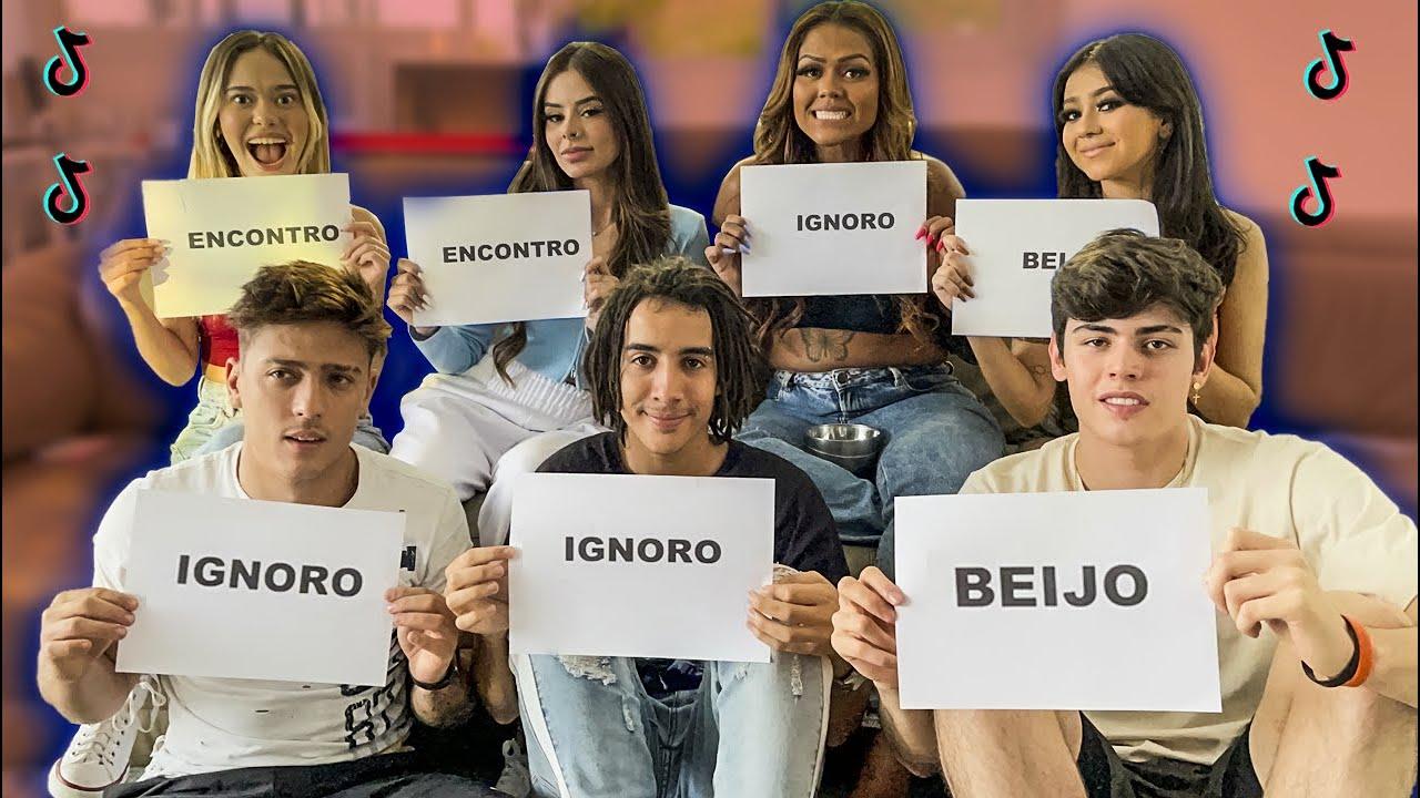 ENCONTRO, BEIJO OU IGNORO COM OS TIKTOKERS!!!