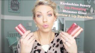 ❤ Kardashian Beauty Lip Plumping Shimmer Gloss Review & Swatches ❤