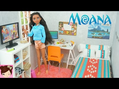 Thumbnail: Disney Moana DIY Doll Bedroom - Easy Doll Crafts for Kids - Titi Toys