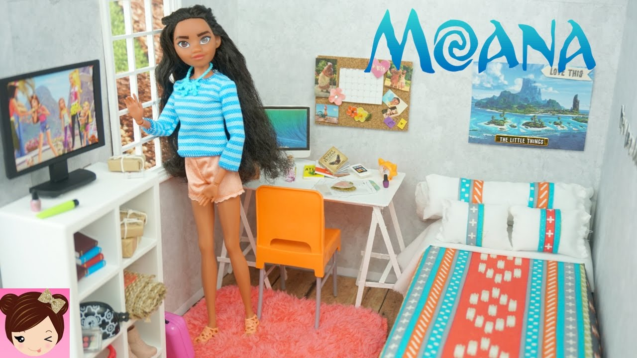 Disney Moana DIY Doll Bedroom - Easy Doll Crafts for Kids ...