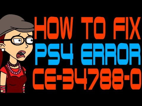 How to Fix PS4 Error Code CE-34788-0 - YouTube
