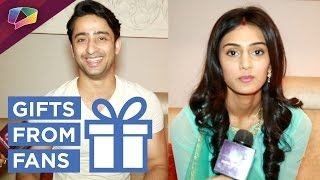 Shaheer Sheikh and Erica Fernandes receive gifts from fans