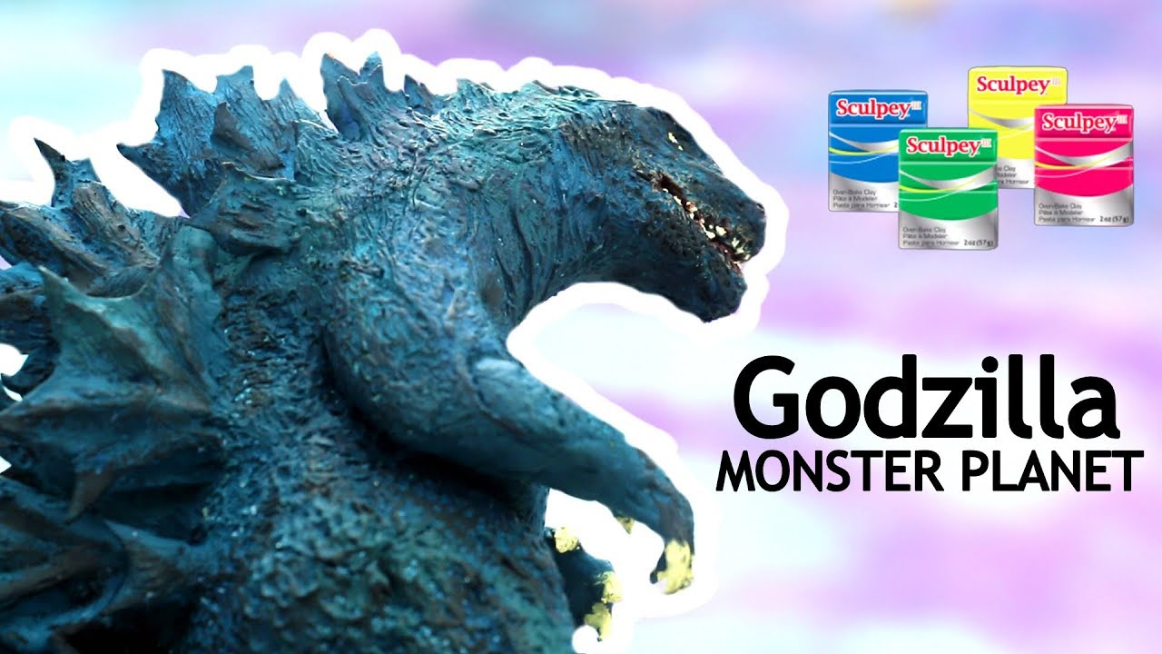 How To Make Godzilla Monster Planet Clay Figure Polymer Clay