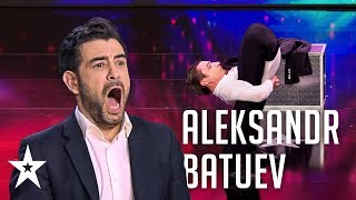 Aleksandr Batuev bents over backwards to impress the judges│Supertalent 2019│Auditions