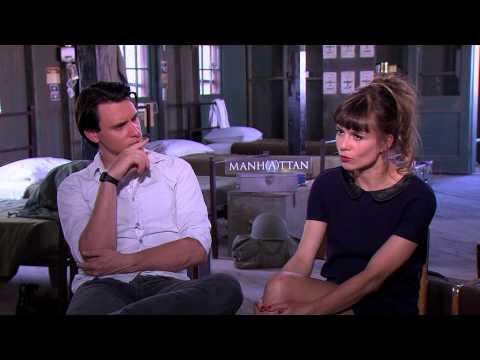 Katja Herbers and Harry Lloyd talk about Manhattan