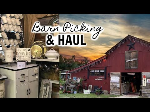 COME BARN PICKING WITH ME / ANTIQUE + VINTAGE DECOR SHOPPING + HAUL