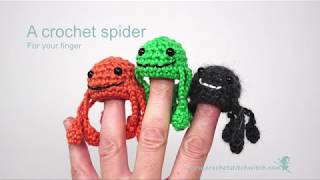 How to Crochet a spider finger puppet