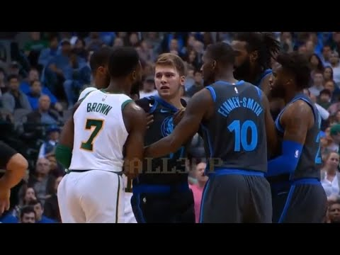 luka-doncic-fights-jaylen-brown-after-getting-pushed-to-the-floor!-boston-celtics-vs-dallas-mavs