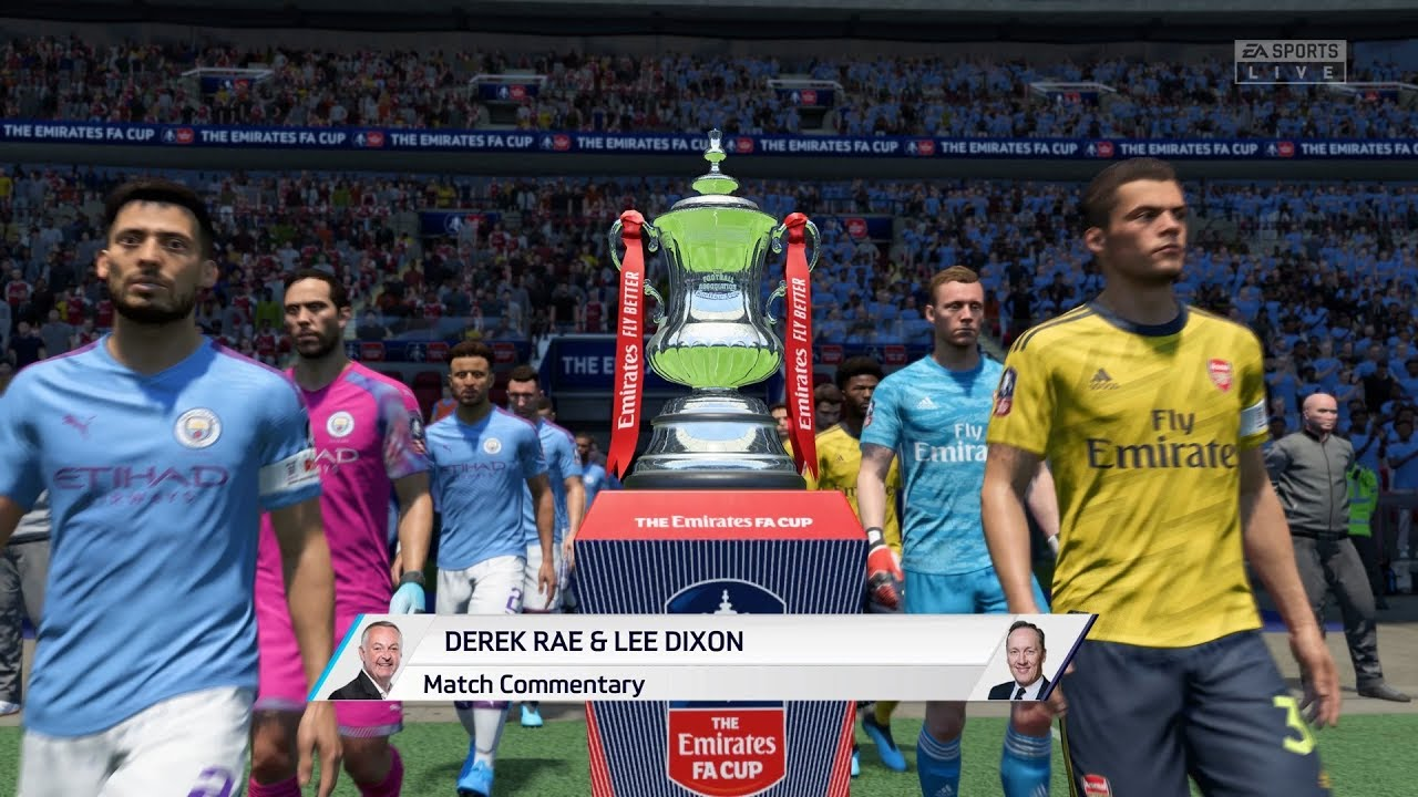Fifa 20 Manchester City Vs Arsenal Full Fa Cup Final Gameplay Youtube