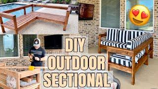 DIY OUTDOOR SECTIONAL | BACKYARD INSPIRATION 2020