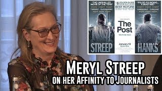 Meryl Streep talks about her affinity to Journalists at The Post Press Conference