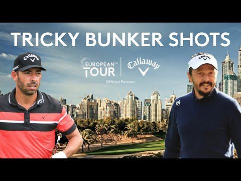 Tricky Bunker Shots | MLV & Pablo Larrazábal | Callaway Tour Tips