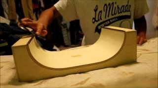 Fingerboard Half-Pipe Fun