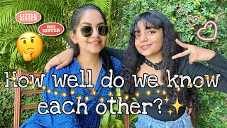 How well do we know each other Challenge🤔✨🤫| Hansika Krishna | Ahaana Krishna