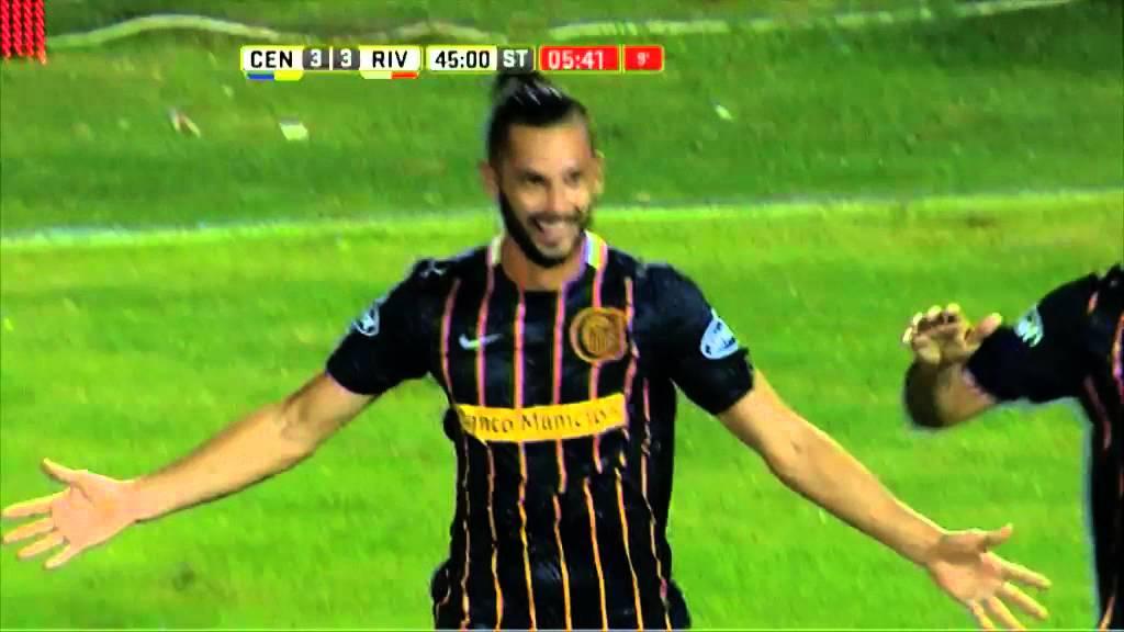 Gol de Larrondo. Central 3 - River 3. Fecha 4. Primera División 2016. - YouTube