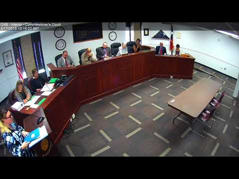 Brazos County Commissioners Court 04-17-18