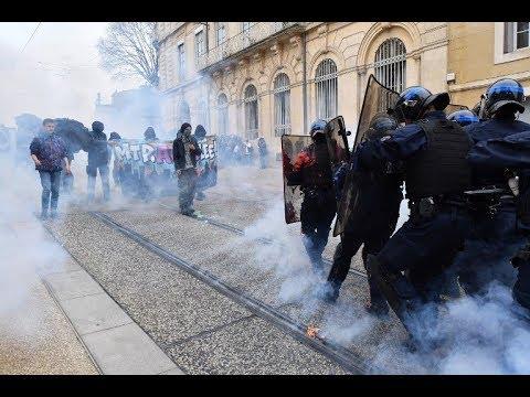 Manifestation sous haute tension à Montpellier : des heurts avec la police ont éclaté