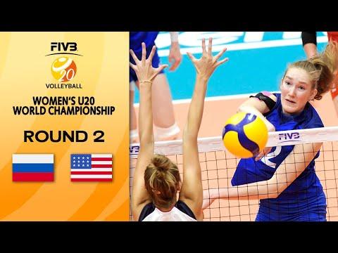 RUS vs. USA - Full Match | Round 2 | Women's U20 Volleyball World Champs 2021