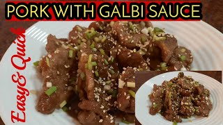 Pork With Galbi Sauce Best Recipe//Malyn Jaromay