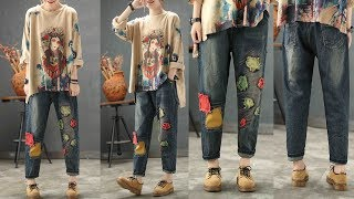 New national style jeans pants Review | Best Jeans For Women Fashion 2018 | 100% Trusted Quality