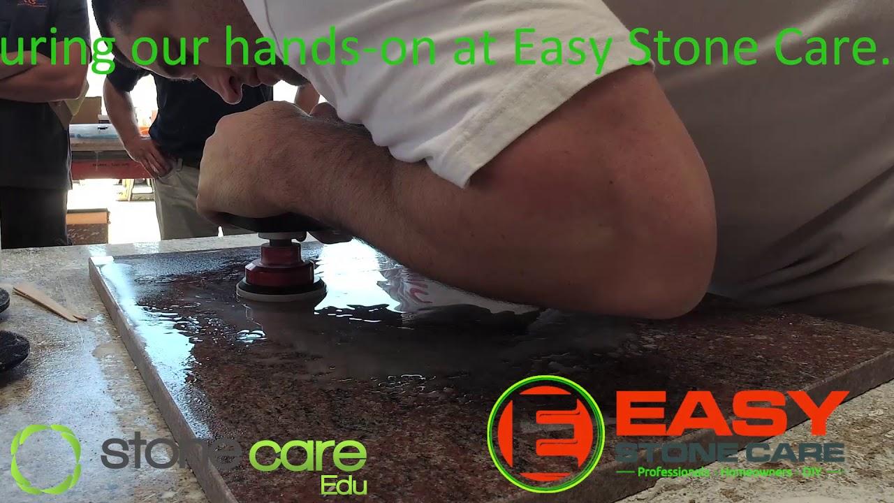 Easy Stone Care Full Granite Face Polishing Demonstration
