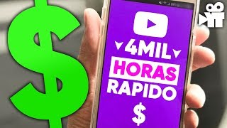 4mil horas no youtube: Como alcançar a monetização mais rápido (2018)