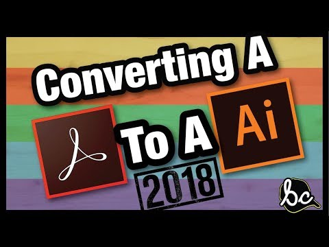 How To Convert PDF To Vector [2018]