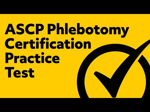 image regarding Free Printable Phlebotomy Practice Test identify No cost* ASCP Phlebotomy Certificate Educate Check out - YouTube
